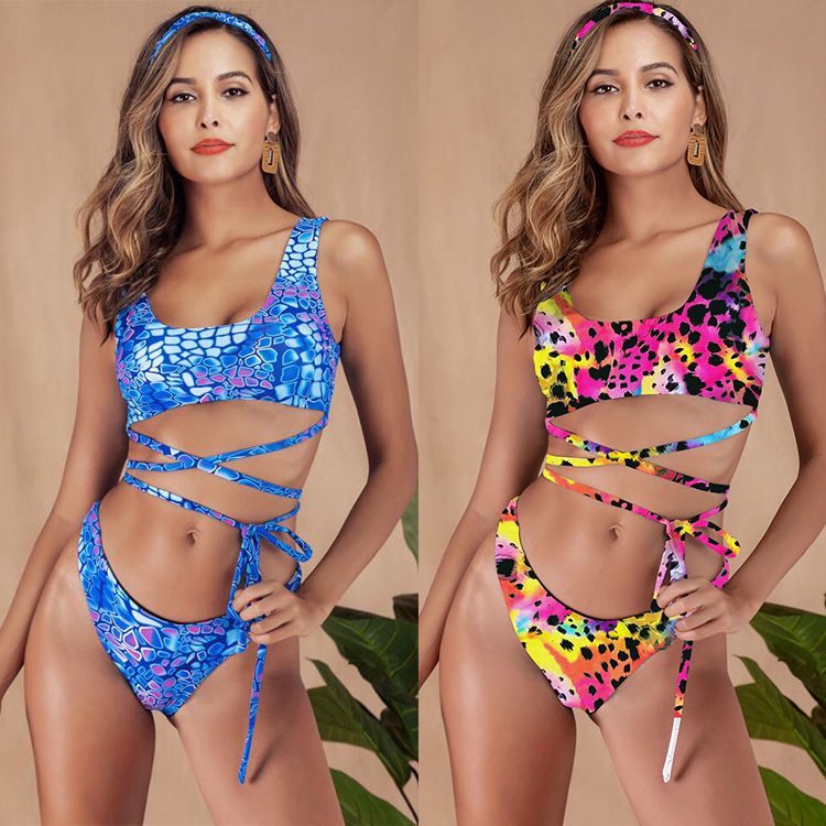 Sexy Floral Print High Waist Swimsuit 2019 Bikini Push Up Swimwear Women Vintage Biquini Bathing Suit Maillot De Bain Femme
