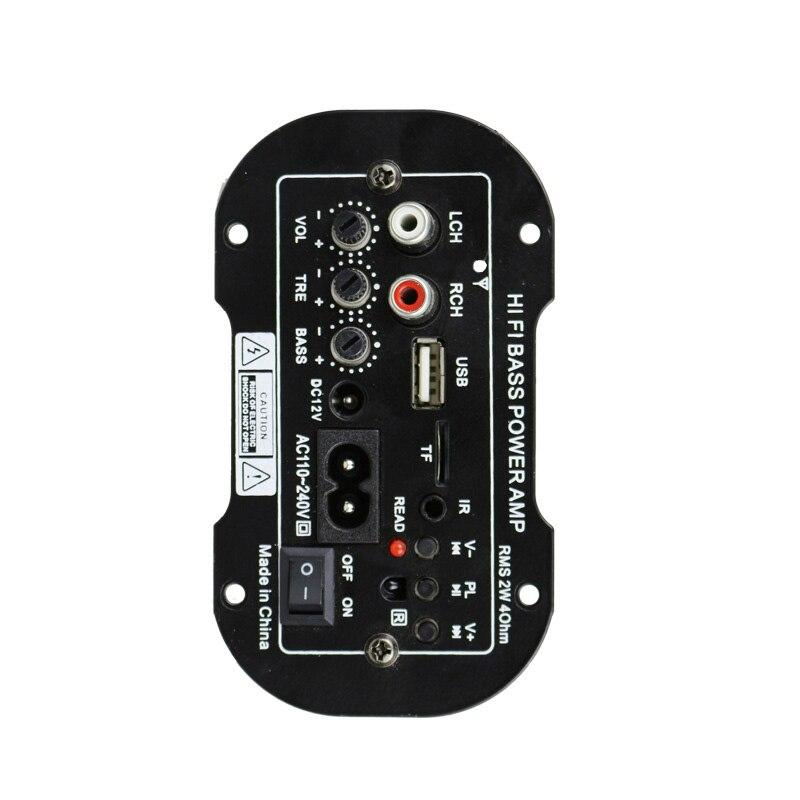 4 Ω Auto Car Power Amplifier Speaker Bass Audio Radio Subwoofer TF MP3 220V 50W radio mode audio input mode accessories|Stereo Amplifiers| |  - title=