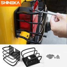 SHINEKA metalowa osłona tylnego światła rama wykończeniowa tylna lampa osłona naklejka ochronna dla Jeep Wrangler TJ 1997-2006 samochodów stylizacji