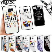 friends tv Glass Case for Samsung S7 Edge S8 S9 S10 Plus S10E Note 8 9 10 A10 A30 A40 A50 A60 A70 стоимость