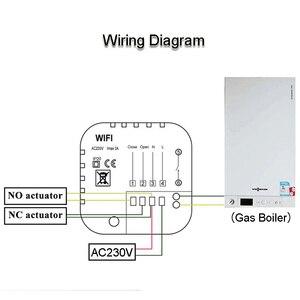Image 5 - Régulateur numérique de température, Thermostat wi fi pour chauffe salle Programmable, commande numérique, Thermostat pour chauffe eau à gaz