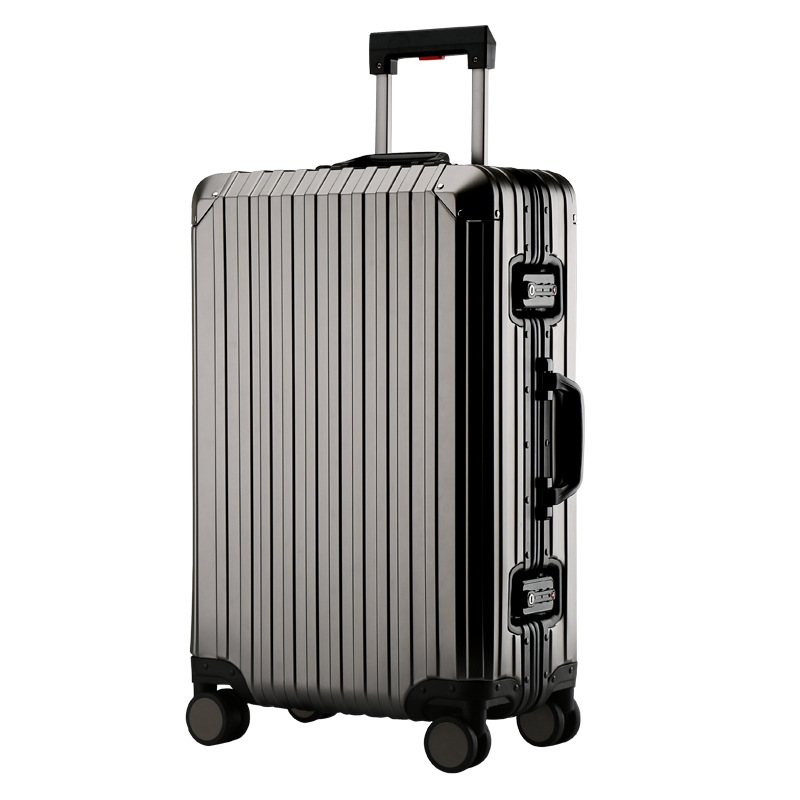 New Fashion 100% Aluminum alloy Rolling Luggage Spinner Suitcases Wheel 20 inch Men Business Carry On Trolley Travel Bag