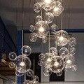 Люстра в скандинавском стиле из стеклянного шара для гостиной, столовой, спальни, Индивидуальное мыло, постмодерн, люстра в виде шара-пузыря...