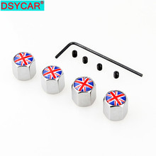 DSYCAR  4Pcs/Set MINI Style Bike Motorcycle Car Tire Valve Stem Caps For Car/Motorcycle,Air Leakproof And Protection
