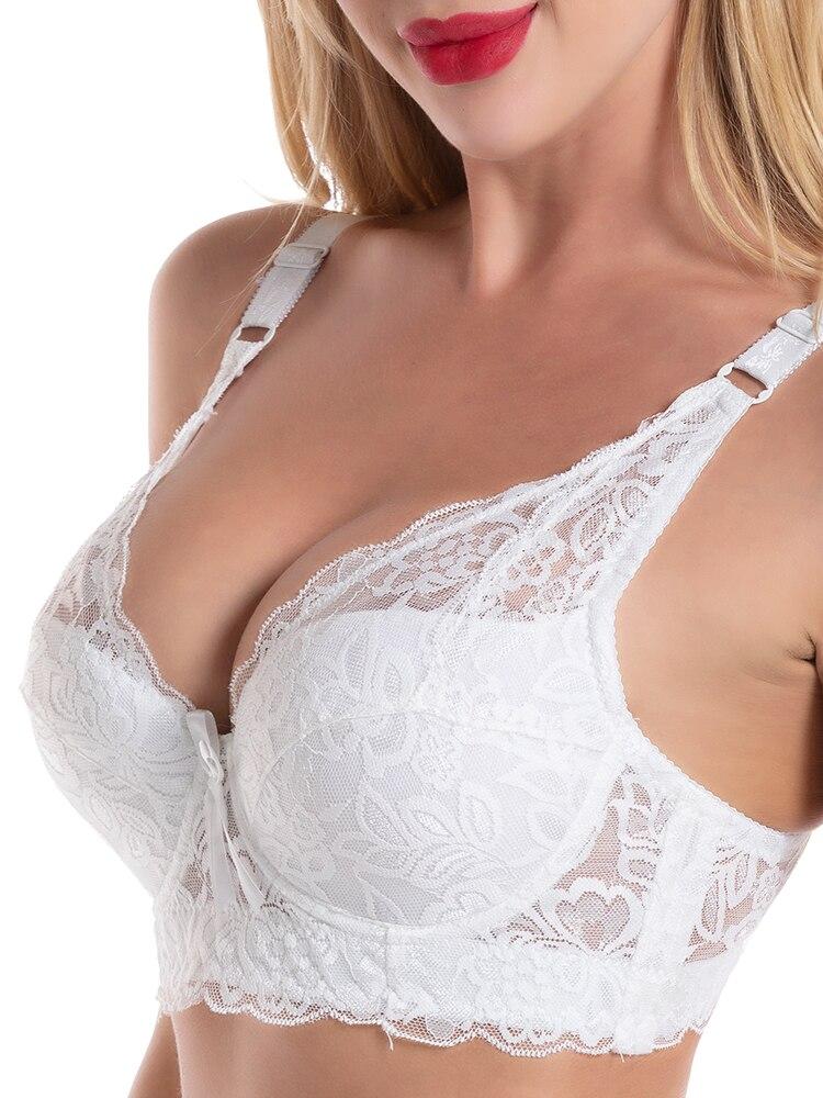 Lace Bras Bra-Top Seamless-Bra Sexy Women Bralette Plus-Size for Push-Up BH