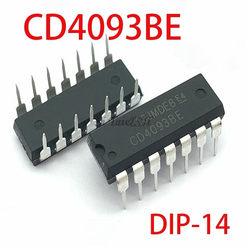 10PCS CD4093BE HCF4093BE DIP14 CD4093 DIP 4093 DIP-14 4093BE New And Original IC