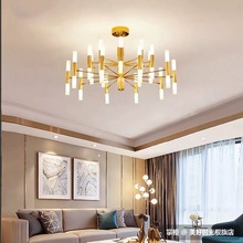 Nordic Simple Iron LED Chandelier Creative Personality Living Room Bedroom Lamps Restaurant Model Light Luxury Chandelier crystal restaurant chandelier rectangular hong kong style nordic postmodern light luxurious atmosphere bedroom living room lamps