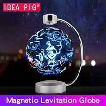 88 Constellations Magnetic Levitation Geography Globe 8 Inch  Floating World Map with LED Light Home Decoration Accessories decoration globe floating teach world map 1pcs led light santa gift novelty geography montessori magnetic levitation