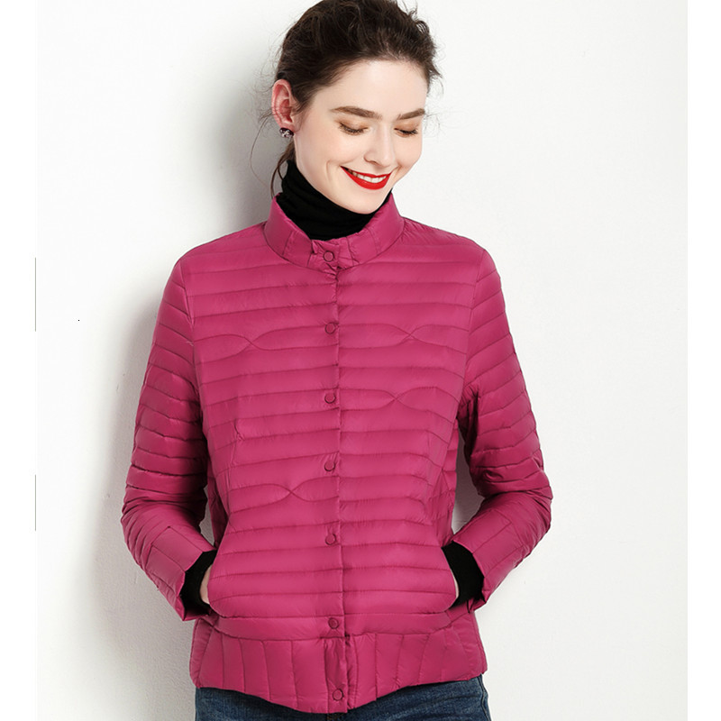 2019 Winter Clothes Frivolous Short Fund Self-cultivation   Down   Jackets Ma'am Stand Lead Self-cultivation Thin Loose   Coat   Tide