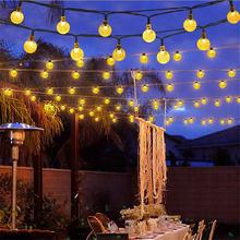 5 м 50 светодиодов солнечный пузырьковый шар струнный светильник