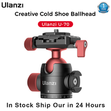 Tripod-Head Photography-Accessories Ulanzi Spherical-Bracket Mini Vlog Dual Metal U-70