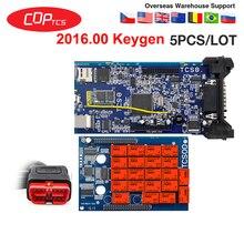 5ピース/ロットcdp tcsプロプラスobd bluetooth 2016.00 keygenのソフトウェアのcar truck診断ツールobd2スキャナーコードリーダーpk mvd