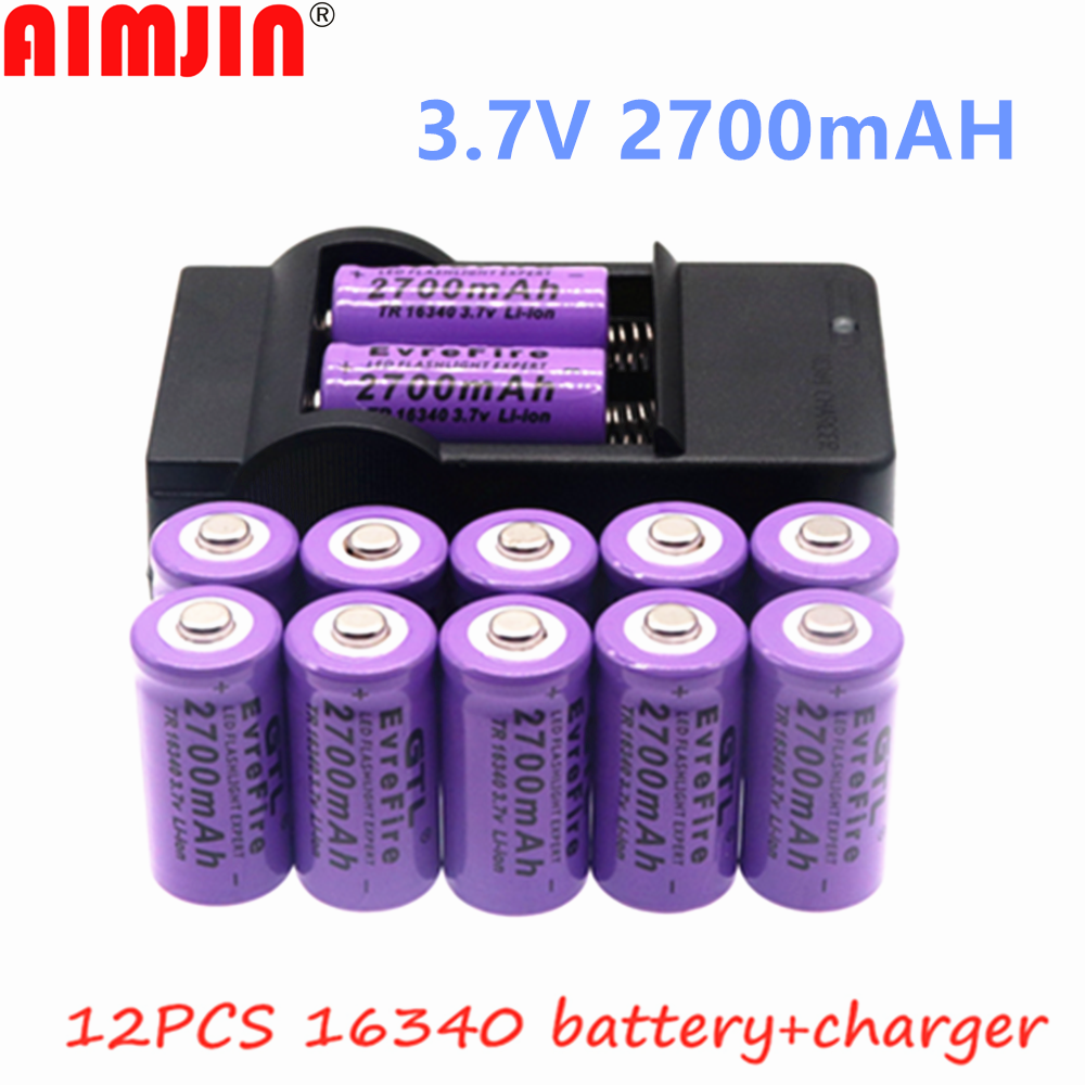 2700 мА/ч, Перезаряжаемые 3,7 V Li Ion 16340 батареи CR123A Батарея для светодиодный фонарик для путешествий настенное Charger16340 CR123A Батарея|Перезаряжаемые батареи| | АлиЭкспресс