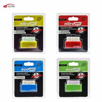 Nitro OBD2 ECOOBD2 15 oszczędność paliwa większa moc skrzynka tuningowa ECU NitroOBD2 Eco OBD2 dla benzyny benzynowej wtyczka samochodowa i sterownik tanie i dobre opinie VSTM CN (pochodzenie) ECO OBD2 and Nitro OBD2 english Czytniki kodów i skanowania narzędzia Nitroobd2 Ecoobd2 Economy Chip Tuning Box