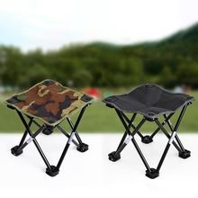 Portable Outdoor Camping Hiking Fishing Chair Practical Camouflage Folding Stool Lightweight Recreational Picnic Beach Chair 2018 outdoor hunting camouflage tents bird watching photography tent shoot bird chair fishing folding chair