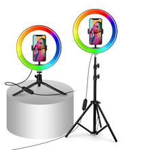Ring Light Tik Tok Tripod-Stand Phone-Holder Youtube Mini RGB with for Makeup Video Photography-Lamp