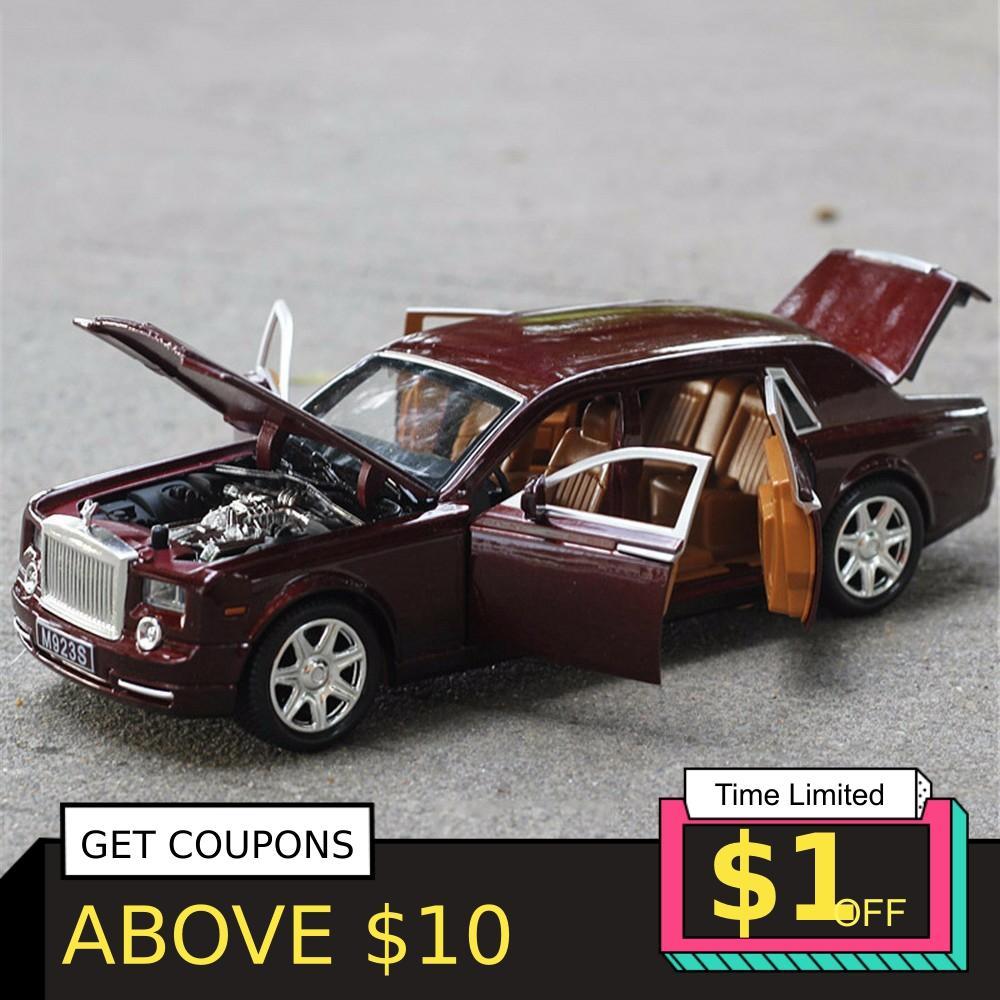 1/24 auto Modell Rolls-Royce Phantom Verlängert Cohes Diecast Legierung Sixdoor modell Licht Modelle Hohe Simulation Spielzeug Geschenk Sammlung
