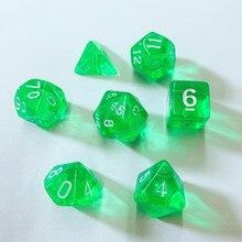 1 Набор многогранных кубиков, красочные прозрачные поли игральные кости, набор настольной игры из 7 сторонних кубиков D4 D6 D8 D10 D12 D20 N06, Набор Игральных кубиков