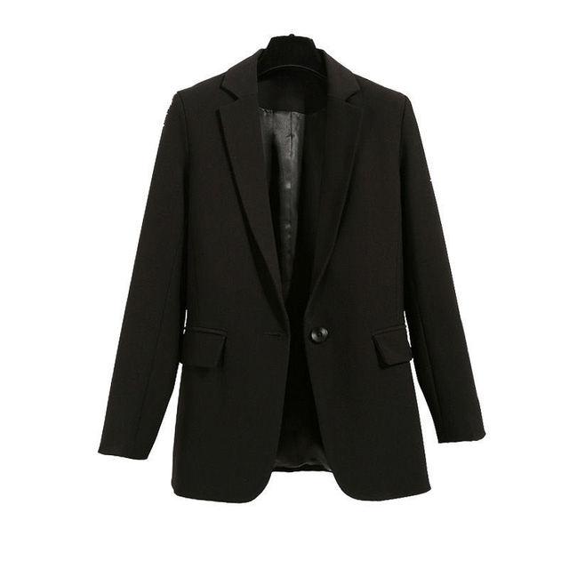 2021 Free Shipping Autumn Winter New Casual Blazer Coat Women Medium Long Slim Fashionable Versatile Business Suit Black Coats 2