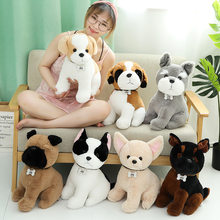 Quente novo 1pc huggable kawaii brinquedo de pelúcia animais simulação cão de pelúcia senhora brinquedos de pelúcia bonecas presente de aniversário brinquedo de natal para crianças