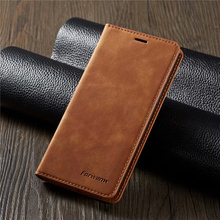 10piece/lot For Samsung Galaxy A8 2018 Case Magnetic Phone Cover Wallet Flip Leather Stand