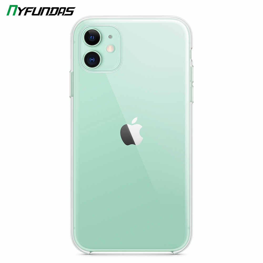 Étui transparent d'origine pour Apple iPhone 11 Pro Max X XR XS 8 Plus 7 6 6S iPhone11 antichoc Silicone pare-chocs couverture rigide accessoires