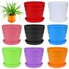 Colorido mini vaso de flores de plástico planta suculenta vaso de flores decoração de escritório em casa dropshipping