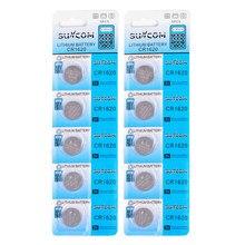 10 Pçs/lote CR1620 3 Baterias V Calculadora Assista Botão de Célula tipo Moeda De Lítio Bateria Da Mudança Para O Brinquedo de Controle Remoto Bateria Peças