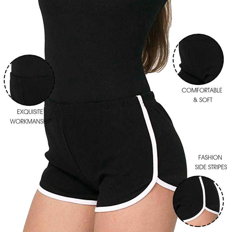 Chaude multi-couleurs Patchwork Fitness décontracté droite sauvage Shorts femmes Sexy plage été Shorts pantalons en vrac 2020