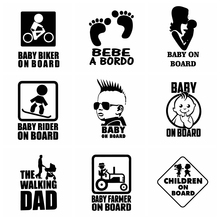 Hot Sale BABY ON BOARD Car Sticker Funny For Cars Truck Body Side Door Stickers Decal Graphic Universal Auto Side Decals Decor