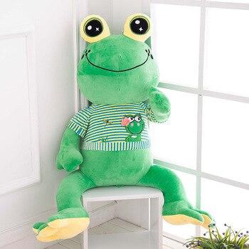 Kawaii Plush Frog Doll Big Stuffed Animals Giant Pouf Toys For Children Eye Pillow