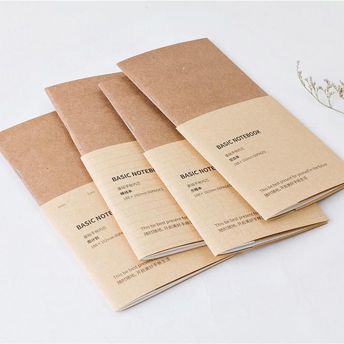 Vintage Traveller Series Creative Pocket Basic Notebook 188mm*102mm 60P Refilled Paper Book