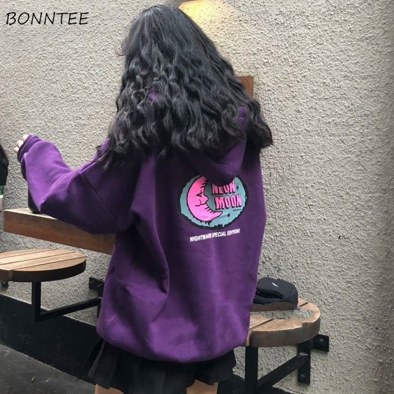 Hoodies Women Autumn Winter Loose Plus Velvet High Quality Soft Kawaii Harajuku Womens Clothing Chic Streetwear Ulzzang Girls