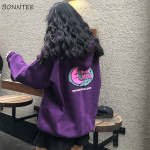 Hoodies Women Autumn Winter Loose Plus Velvet High Quality Soft Kawaii Harajuku Womens Clothing Chic Streetwear Ulzzang girls(China)