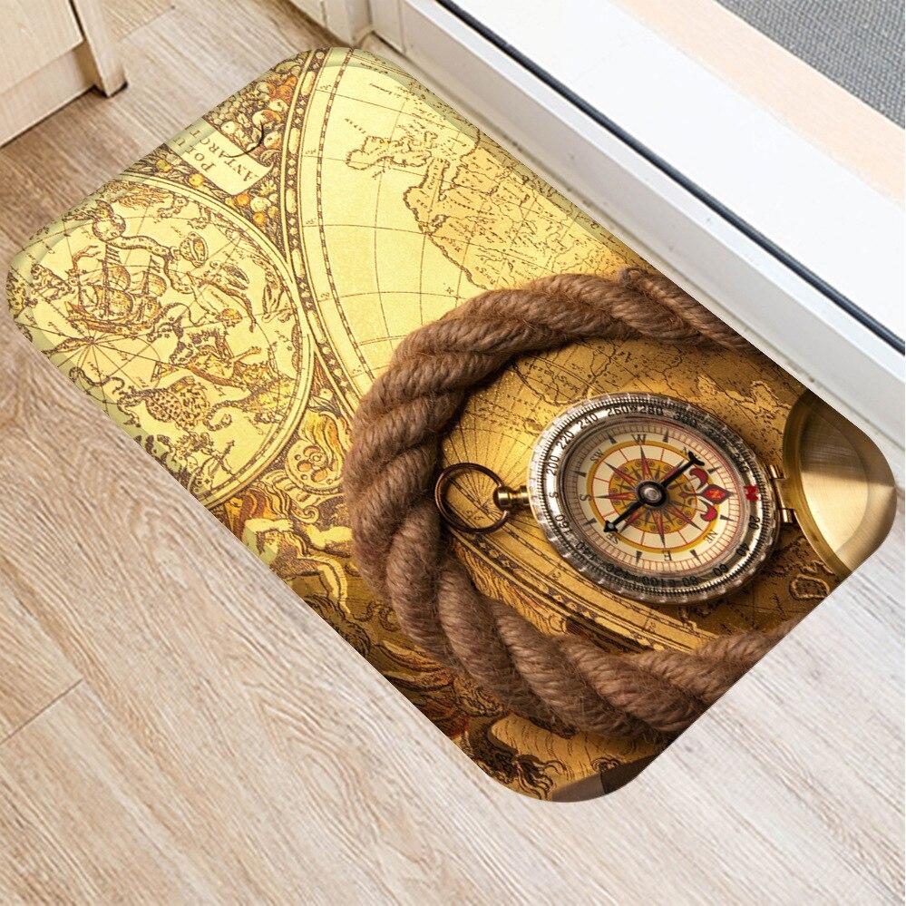 Image 2 - Classic Clock and Watch Style Interior Entrance Mat Non slip  Kitchen Mat Bathroom Non slip Mat Home Bedroom Floor Mat 40x60cm  .Rug