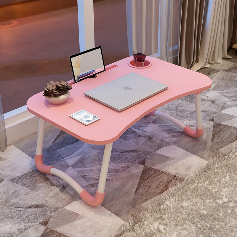 Fashion Portable Folding Laptop Table China Stock Sofa Bed Laptop Stand Desk Computer Notebook Bed Table Simple Folding Desk