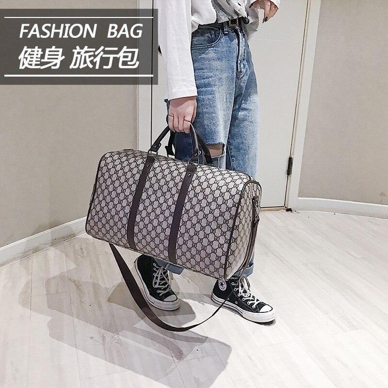 Shang Zhen Cross-Border INS Short Trip Hand Large-Volume Chu Cha Bao Travel Bag Luggage Bag Boarding Bag Duffel Bag Men's