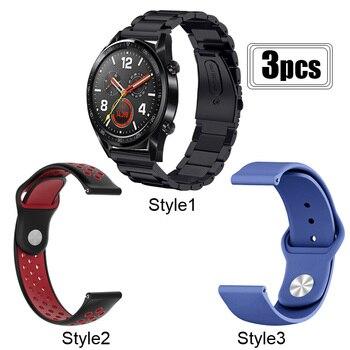 Correa de reloj para Huawei Watch GT 2E/2 de 46mm Honor Magic 2 de 46mm, pulsera de sueño, correa de reloj de acero inoxidable de Metal/silicona de 22mm, correa de reloj