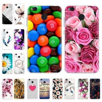 Phone Cases For Xiaomi Redmi 4X Case Cute Silicone Soft TPU Back Cover For Xiomi Redmi 4X Redmi4X Case Hongmi 4X Coque Funda glitter liquid case on for fundas xiaomi redmi 4x 4a 4 3s cover redmi note 4x note4 3 pro case soft silicone dynamic phone cases
