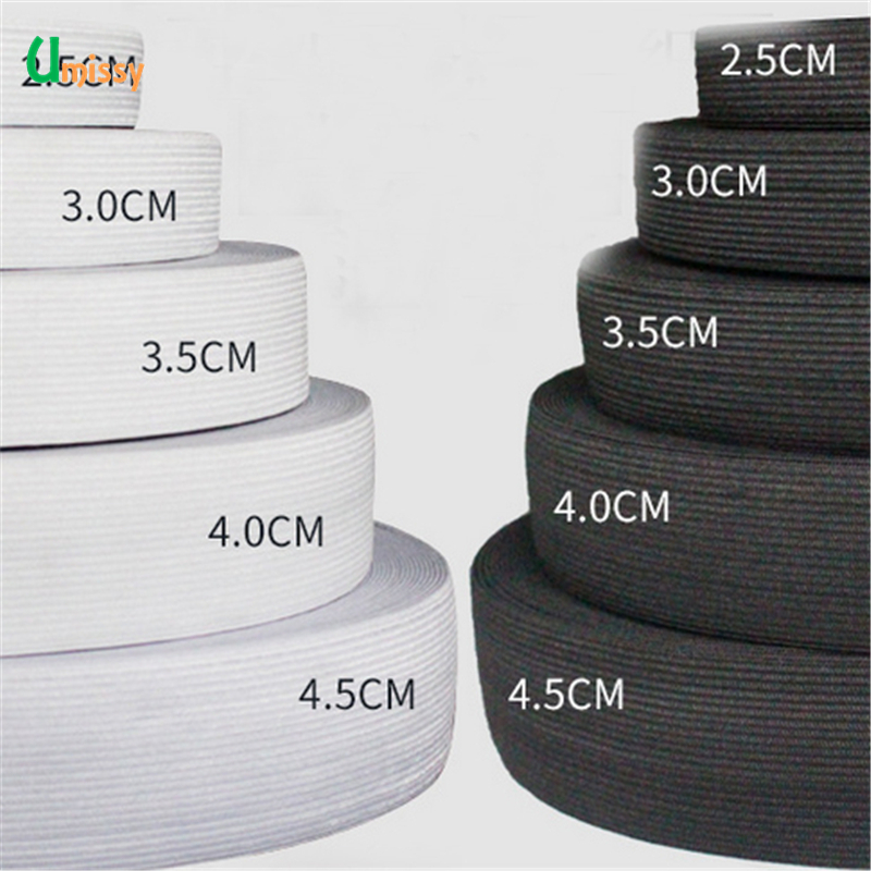 1meter Flat Elastic Band Sewing Clothing Accessories Nylon Webbing Garment Sewing Accessories Width 2cm 4cm 6cm