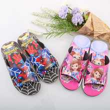 Cartoon Slippers for Boy Girl Cartoon Rainbow Shoes 2020 Summer Todder Flip Flops Baby Indoor Slippers Beach Swimming Slipper(China)