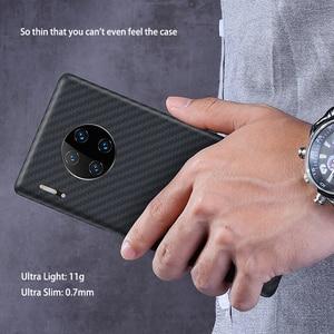 Image 3 - Luxuoso caso de fibra carbono para huawei companheiro 30 pro caso matte capa para huawei companheiro 30 companheiro caso do telefone ultra fino capa coque