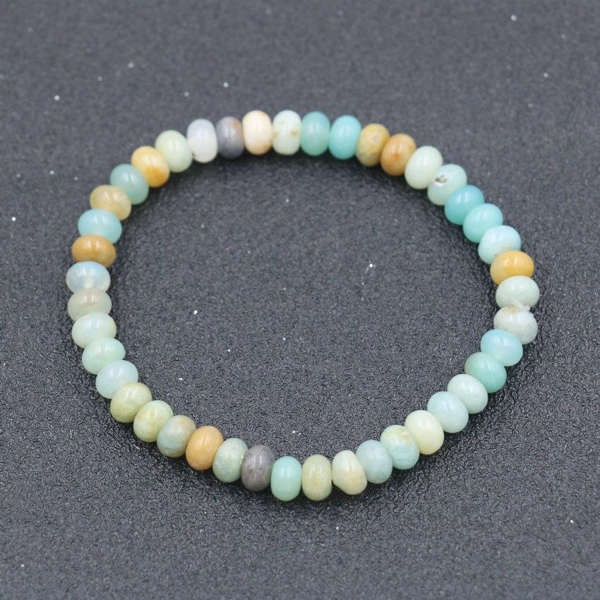 Charm Bracelet Natural Amazonite Stone Beads