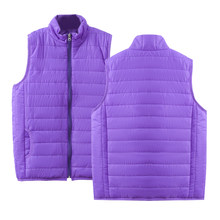 2019 down jacket women/men soild Sleeveless down coat winter Ultralight White Duck Down Vest Slim Vest Windproof Warm Waistcoat(China)