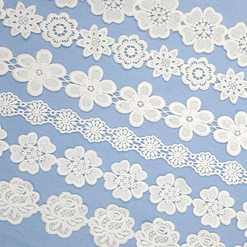 100yards/lot Multi Options White Flower Embroidery Lace Ribbon Fabric For Sew DIY Handmade Materials Accessories High Quality