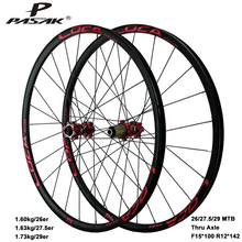 Mtb Wheelset Thru-Axle 700c Disc-Brake 26-27.5-29er Pasak R12--142mm Schrader-Valve Sand