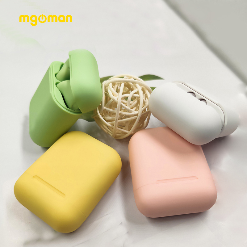 Mgoman New Arrival Macaron Inpods12 TWS Earphone Wireless Fast Charging Headphone Colorful Earbuds Bluetooth 5.0 Headset PK  I12
