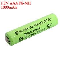 Piles NI-Mh 1.2v, 1000mAh, rechargeables, pour voiture électrique télécommandée, jouet RC ues, AAA 1.2V