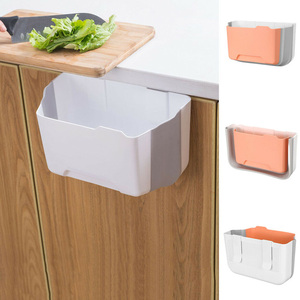 Folding Hanging Trash Can Garbage Waste Bin Wall Mounted Kitchen Cabinet Holder VJ Drop|Waste Bins| |  -