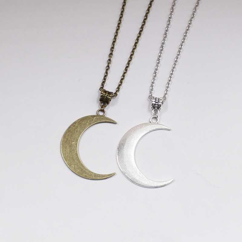 Półksiężyc naszyjnik mystic gotycka biżuteria księżycowa czarownica celtic Pagan Wiccan luna faza księżyca wiedźmin bogini moda kobieta prezent